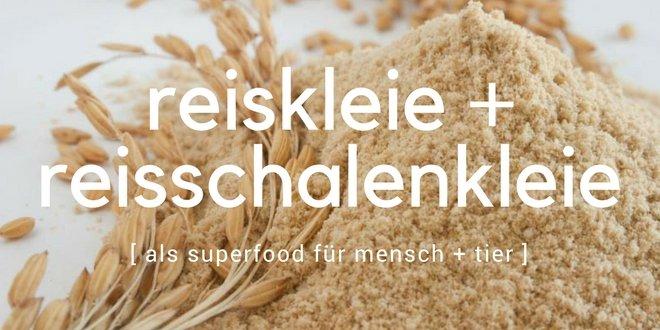 Reiskleie und Reisschalenkleien als Superfood
